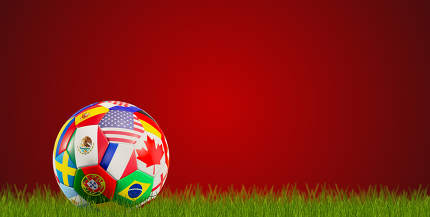 2026 soccer ball flags of Canada USA Mexico 3d-illustration