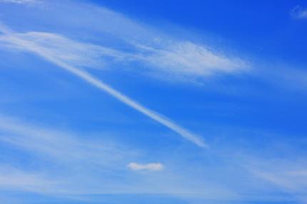 Background of blue sky. ;