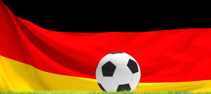 ball soccer football ball Germany flag background 3D Rendering