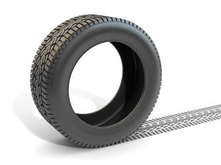 Car Tire and Track