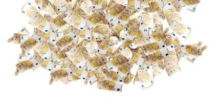 cash money rain 3d-illustration