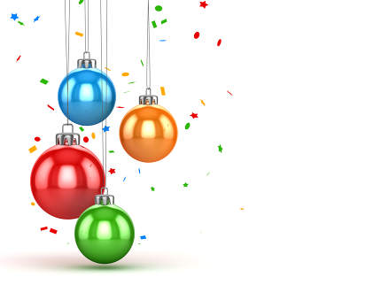 Christmas ball with confetti 3d rendered image