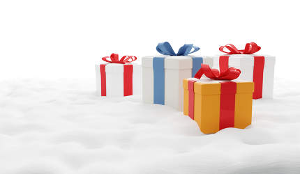 christmas gifts 3d-illustration isolated white