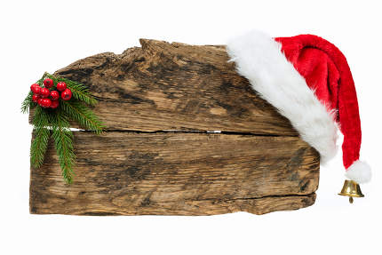 Christmas wooden board template