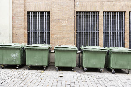 Dumpsters on the street