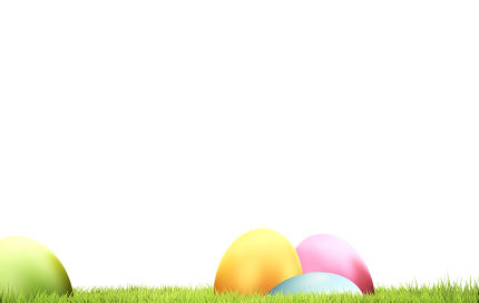 Easter eggs and green grass 3d rendering background