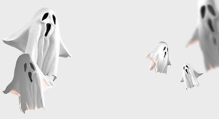 evil ghost 3d rendering ghosts background