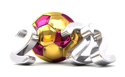 free download: 2022 golden Qatar colored ball and silver 2022 isolated 3d rende