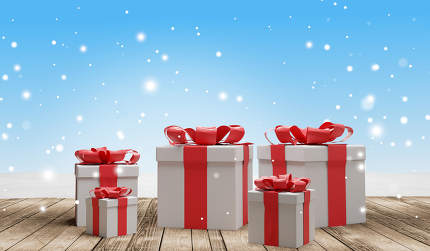 free download: christmas presents 3d-illustration background