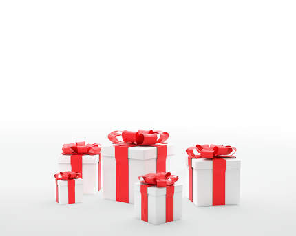 free download: Christmas presents with ribbon 3d-illustration