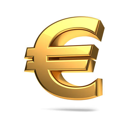 free download: euro symbol golden 3d rendering isolated