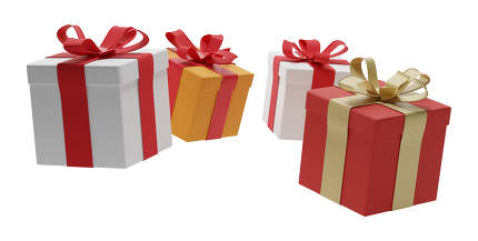 free download: gifts presents boxes 3d-illustration