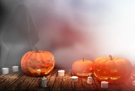 free download: pumpkins Halloween 3d rendering
