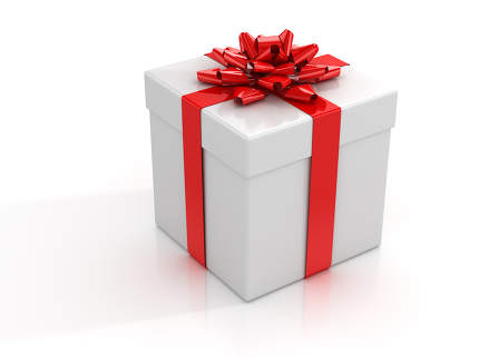 Gift Box 3d rendered