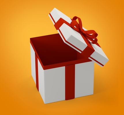 gift box surprise 3d-illustration