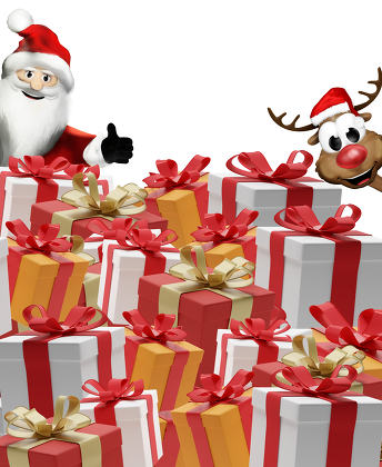 gifts presents boxes 3d-illustration