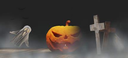 Halloween background 3d.illustration