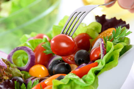 Healthy meal - mixed vegetable salad