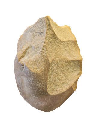 Lower paleolithic pebble biface