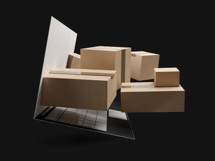 online shopping packages delivery 3d-illustration