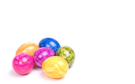 Painted eggs, easter