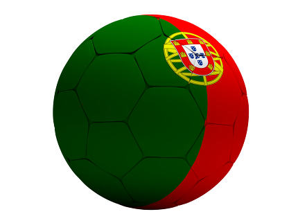 Portugal Portuguese soccer football ball 3D Rendering