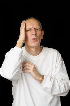 Sick Man with headache