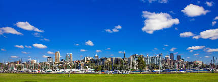 Skyline of Sydney New South Wales Australia