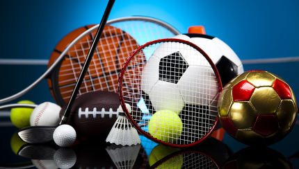 Sports Equipment, vivid colorful theme