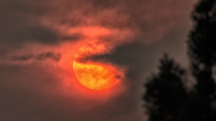 The Sun Obscured by Wildfire Smoke, Humboldt County, California