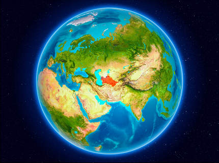 Turkmenistan on Earth
