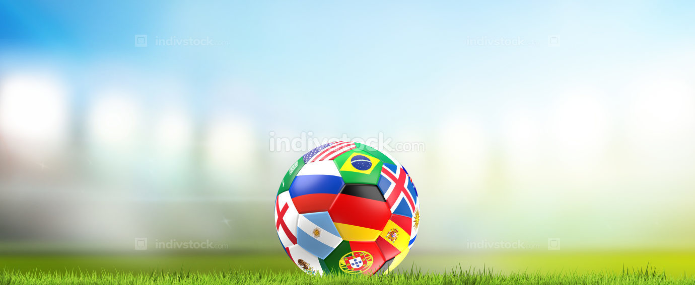 2018 soccer ball 3d rendering