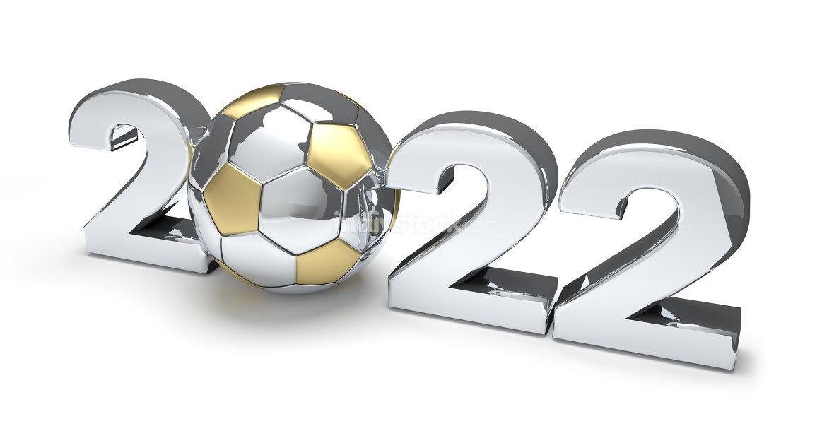2022 soccer football ball 3d rendering
