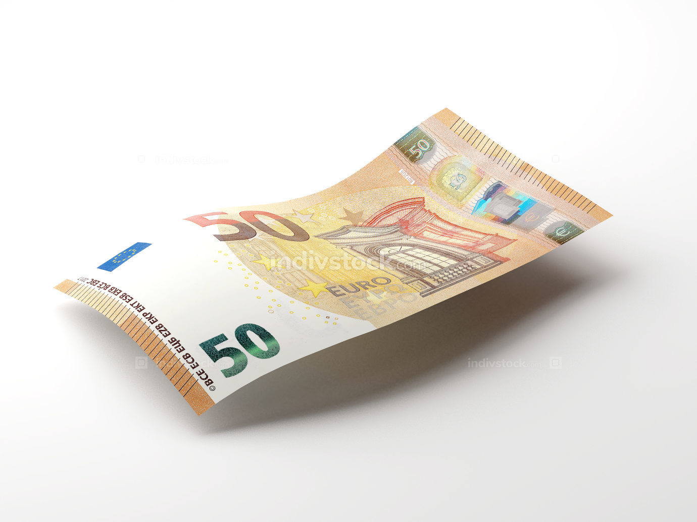 50 euro cash money isolated