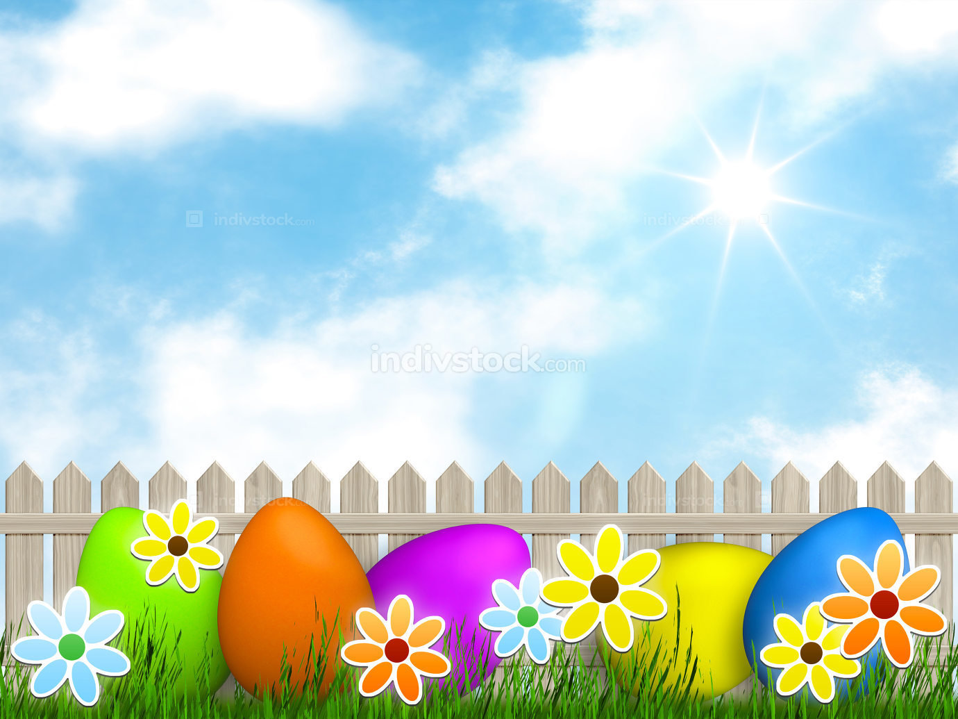 a easter background for your message Illustration