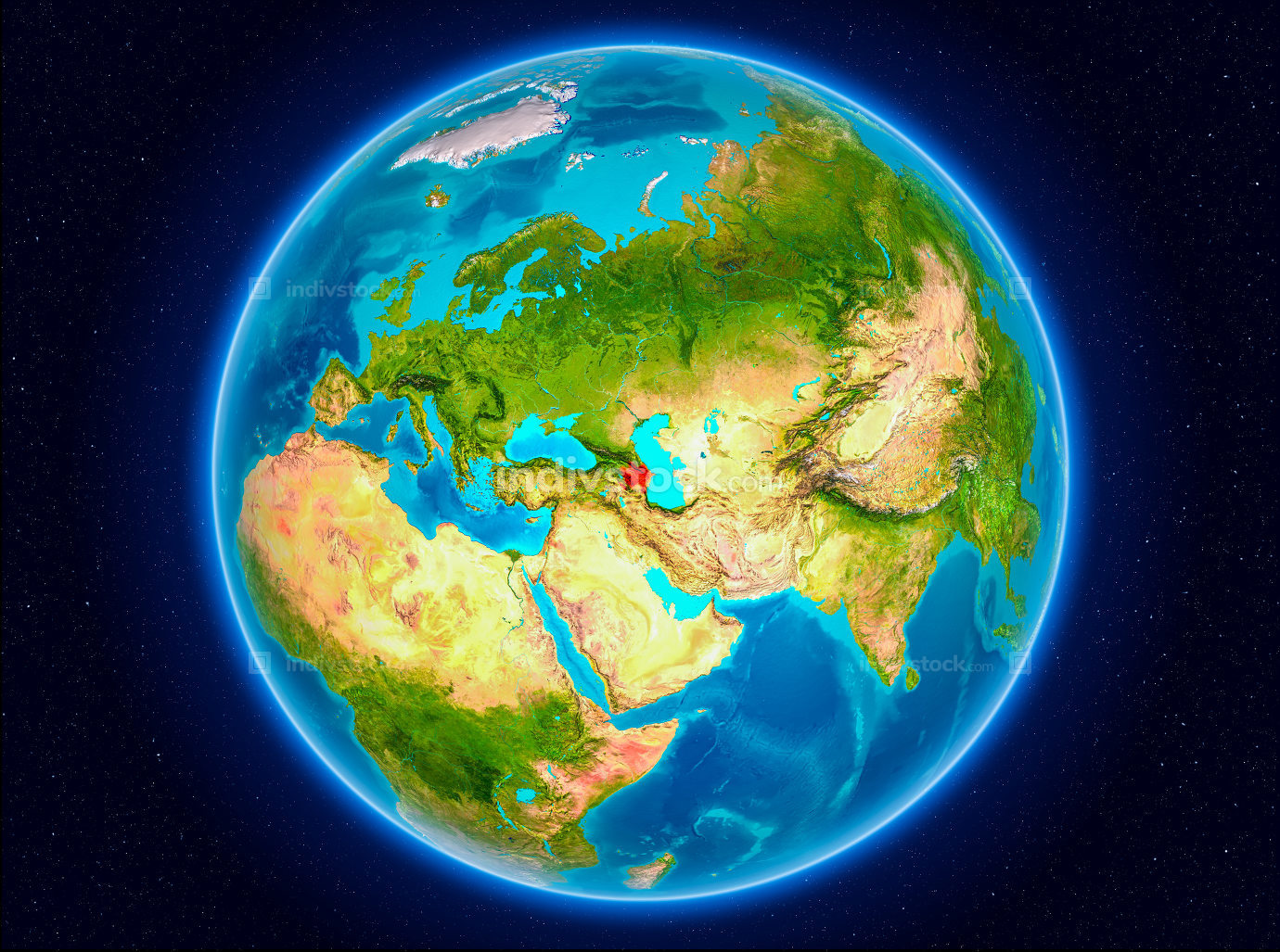 Azerbaijan on Earth