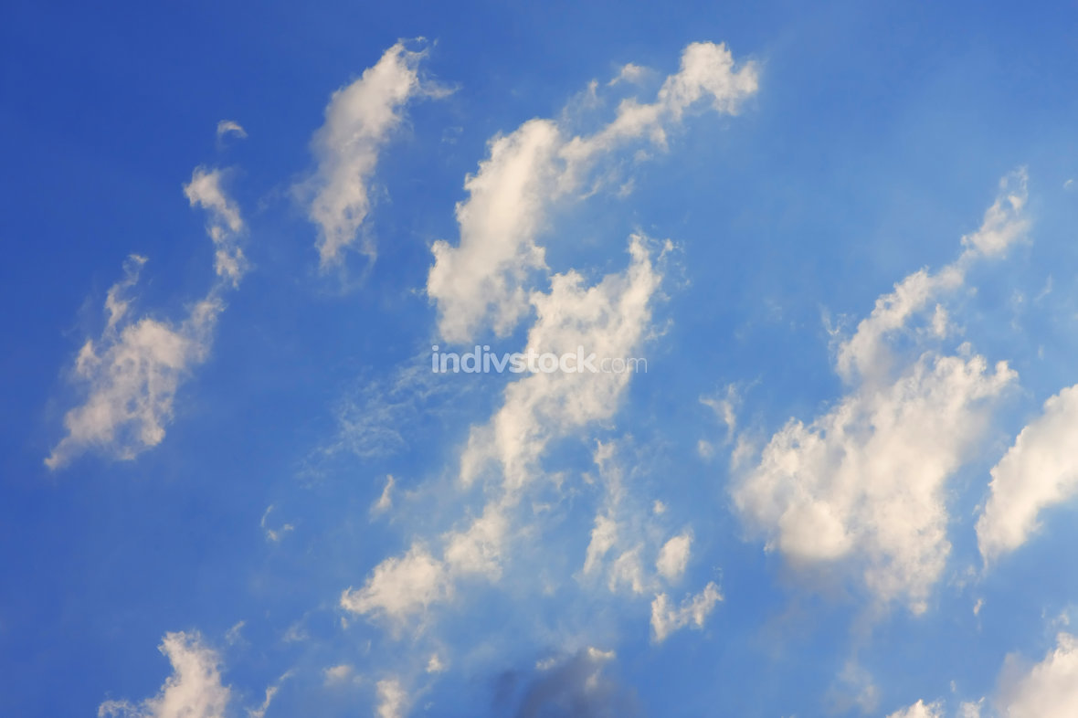 Background of blue sky.