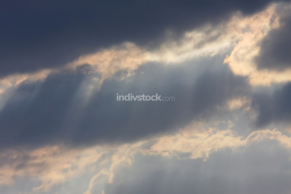 Background of sky with thunderclouds.