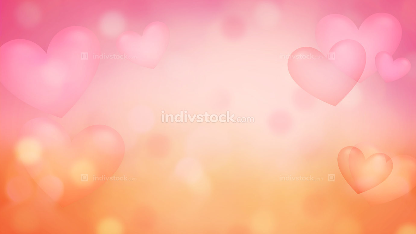 background with opacity hearts abstract crative background illus
