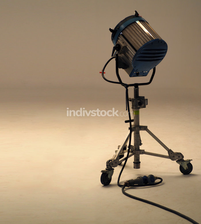 Big studio lights for video movie or film production