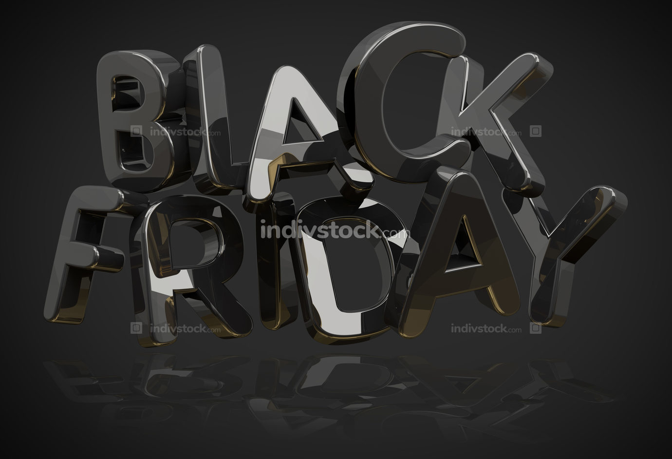 Black Friday background symbol 3d rendering