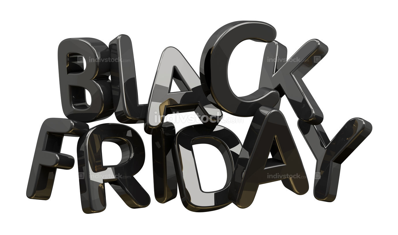 black friday isolated 3d rendering