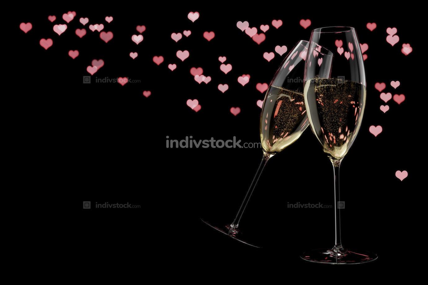 champagne glasses Valentine