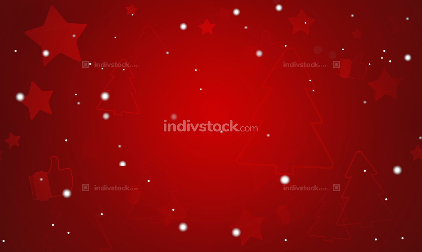 christmas abstract creative silhouette outline background 3d-ill