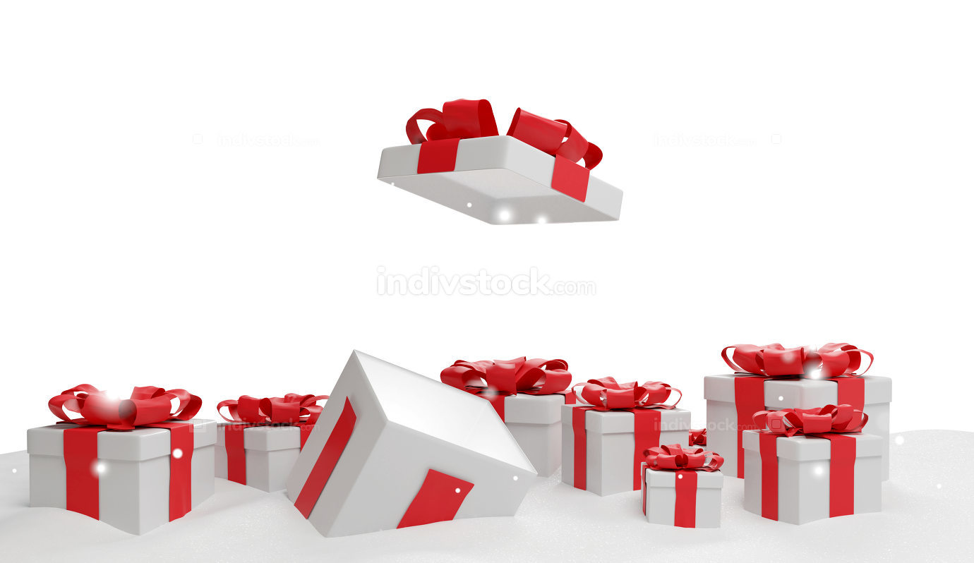 christmas presents 3d-illustration