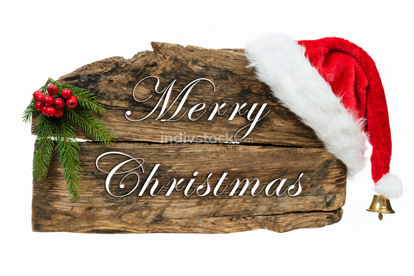 Christmas wooden board sign