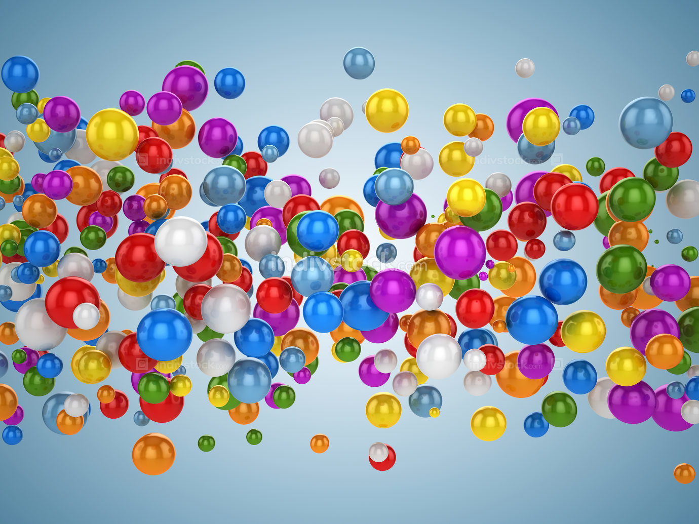 Colorful ball background 3d rendered picture