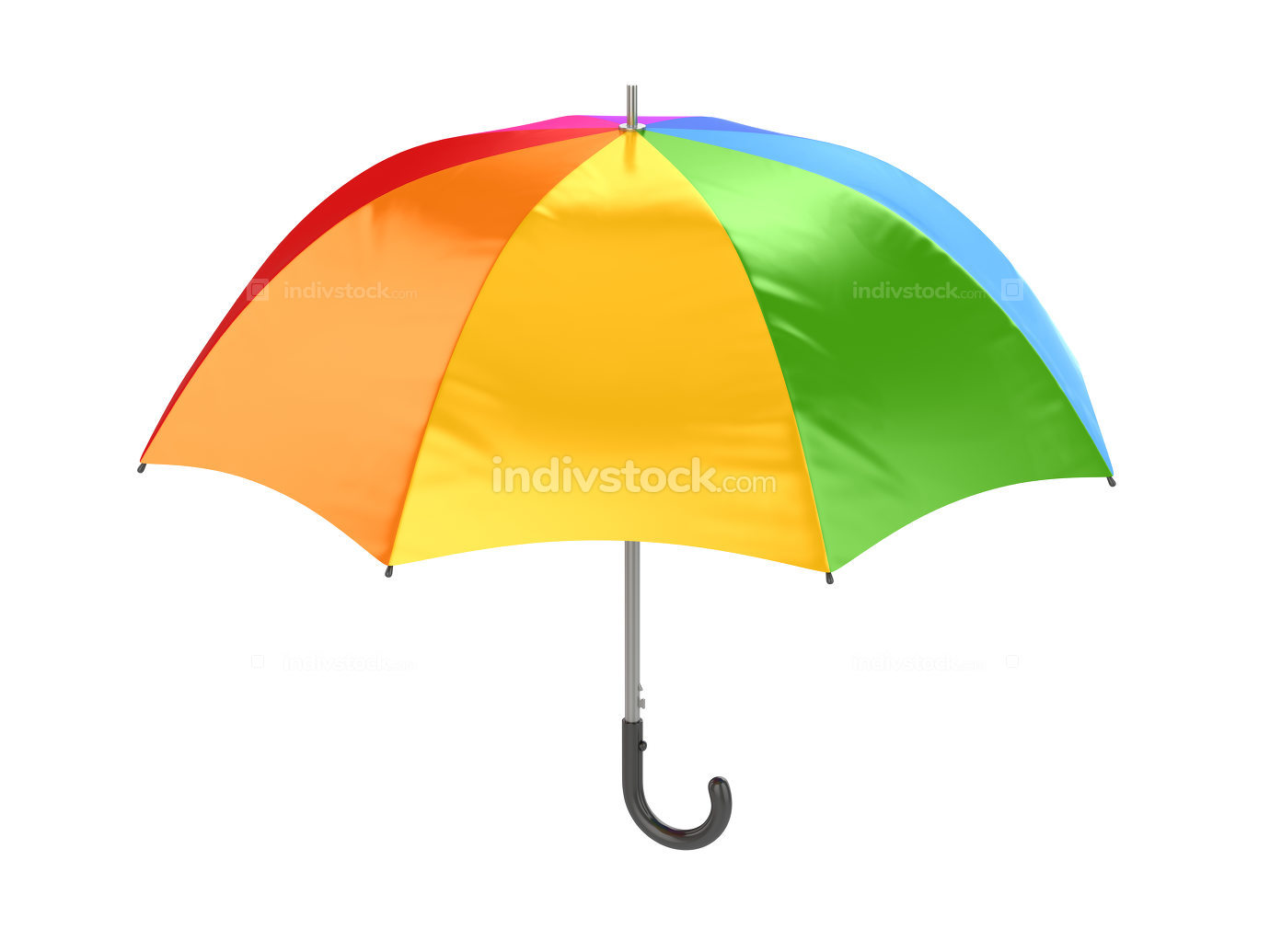 Colorful Umbrella 3d rendered