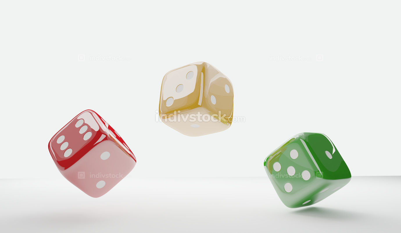 cubes dices 3d-illustration