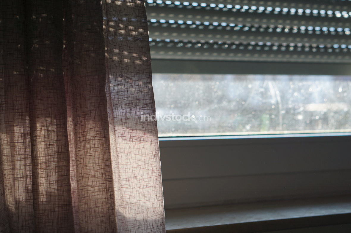 dark dirty window screen for themes as lonely and isolated